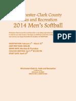 Men's Softball 2014