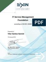 Certificado ISO20000