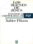 96094488 Pikaza Xabier Los Origenes de Jesus