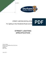 Street Lighting Specification July 2011