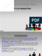 Additional Slides on Ps of Marketing