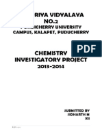 Chemistry Investigatory Project Setting Of Cement