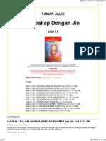 Siri Bercakap Dengan Jin (Tamar Jalis) - Jilid 11