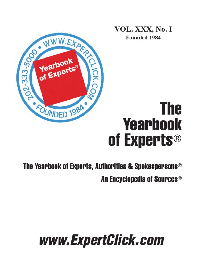 Yearbook of experts 30th annual february 1 2014 news websites fandeluxe Choice Image