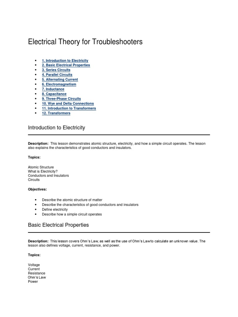 Electrical Theory For Troubleshooters Inductance Capacitor Picture Of The Three Basics Electric Circuits Voltage Current