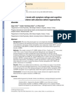 Relation of Ferritin Levels With Symptom Ratings and Cognitive