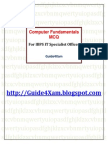 Computer Fundamentals MCQs for IBPS IT Officer Guide4Xam