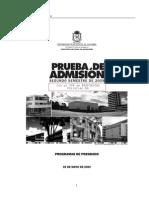 17460126 Examen Admision Universidad Nacional Con Respuestas II2009 OS