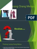 Pantang Larang Orang Melayu