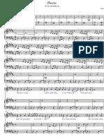 Pieces sheet music