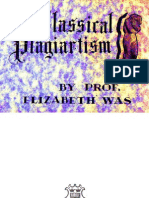 CLASSICAL PLAGIARTISM by Prof. Elizabeth Was