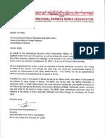 IBMO Letter to Senator Jim Webb