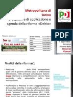 """La Città Metropolitana di Torino, prospettive di applicazione e agenda della riforma """"Delrio"""""""