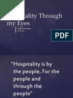 Hospitality Through My Eyes