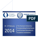 The Humane University Incorporating Animal Issues and Humane Education in Academic Institutions