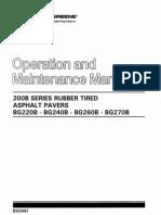 BG220B,BG240B,BG260B,BG270B Operacion y Mantenimiento