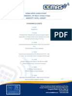 APPSLaunchEventProgramme - March 2013