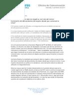 Nota de prensa de M.Carmen Dueñas
