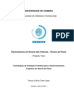 Projecto de Tese PhD