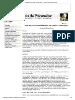 Estados Gerais da Psicanálise - Grupo Virtuais e Textos em Interlocução na Rede