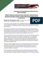 ALIPAC Drops Endorsement for US Senator Dean Heller Over His Vote for Amnesty