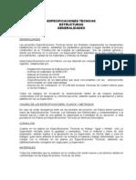 Especificaciones Tecnicas Estructuras Lambayeque