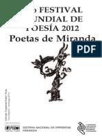 055) 9no Festival Mundial de Poesía 2012 Poetas de Miranda
