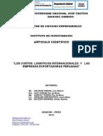 LOS COSTOS  LOGISTICOS INTERNACIONALES  Y   LAS EMPRESAS EXPORTADORAS PERUANAS