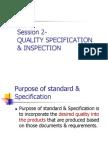 Session 2c - Quality Specification & Tolerances