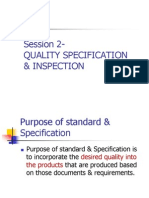 Session 2c - Quality Specification & Tolerances