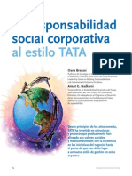 La Responsabilidad Social Corporativa Al Estilo TATA