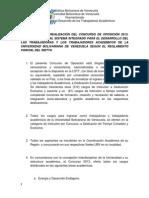 BASES SOBRE LA REALIZACIÓN DEL CONCURSO DE OPOSICIÓN 2013-2 (viernes)
