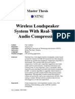 Wireless Loudspeaker System with Real-Time Audio Compression