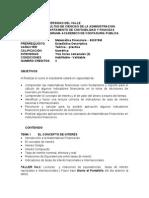 Programa Matematicas Financieras (Univalle)