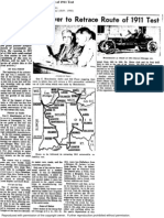 Pioneer Auto Driver to Retrace Route of 1911 Test