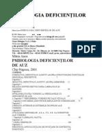Maria Anca - Psihologia Deficientilor de Auz