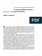 Niklas Luhmann - the Paradox of System Differentiation and the Evolution of Society