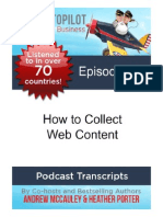 How to Collect Web Content