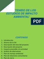 Contenido de Los Estudios de Impacto Ambiental