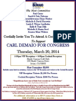 Cocktail Reception for Carl DeMaio