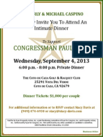 Intimate Dinner for Prosperity PAC