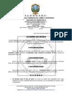 ACUERDO DE DUELO - I. y P. H. Candelario Juárez