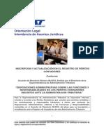 2831 Inscripcion y Actualizacon en El Registro Peritos Contadores Acuerdo 08 2010