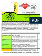 CPD Learning Breakfast Booking Form