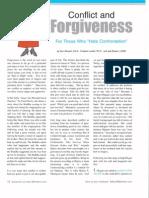 Conflict & Forgiveness