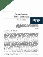 Allouch Jean Perturbations Dans Le Pernepsy