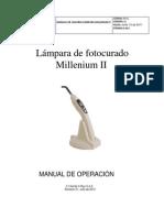 Manual de Usuario Lampara Millenium II