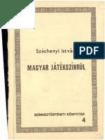 Széchenyi István - Magyar Játékszínrül