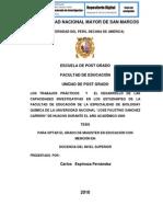 """LOS TRABAJOS PRÁCTICOS  Y  EL DESARROLLO DE LAS CAPACIDADES INVESTIGATIVAS EN LOS ESTUDIANTES DE LA FACULTAD DE EDUCACIÓN DE LA ESPECIALIDAD DE BIOLOGÍAY QUÍMICA DE LA UNIVERSIDAD NACIONAL """"JOSÉ FAUSTINO SÁNCHEZ CARRIÓN"""" DE HUACHO DURANTE EL AÑO ACADÉMICO 2009"""
