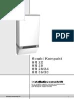 881.477-21 - Installatievoorschrift Kombi Kompakt HR 22-28-24 en HR 28 en 36-301